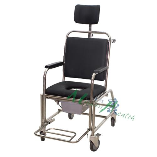 GE-0305 不銹鋼後旋型浴廁車(固定式扶手)