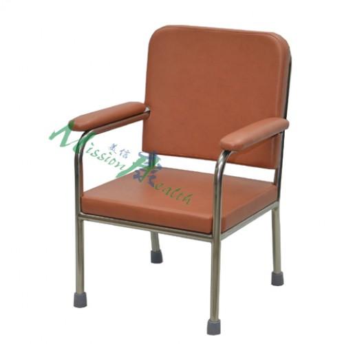GA-0411  不銹鋼扶手椅(固定扶手)