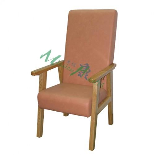 GA-1101  原木高背椅